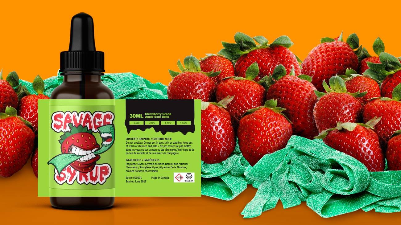 Strawberry Green Apple Sour Belt